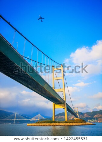 Tsing Ma Bridge at sunset time Stock photo © kawing921