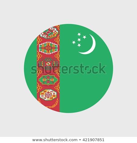 Turkmenistan · offiziellen · Flagge · Design · Welt · Mond - stock foto © zeffss