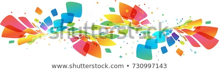 abstract rainbow colorful floral background Stock photo © pathakdesigner
