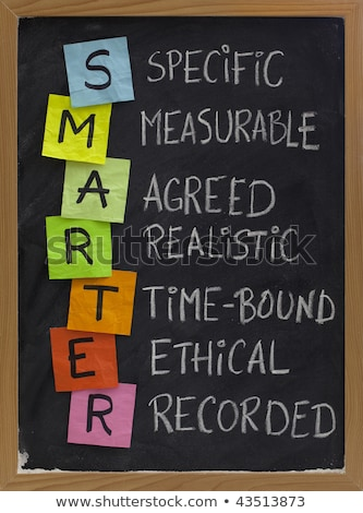 SMARTER Goals acronym on a chalkboard  Stock photo © bbbar