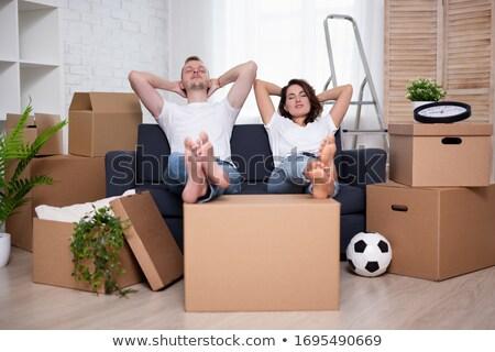 karton · dobozok · fehér · egyensúly · szállítás · posta - stock fotó © photography33