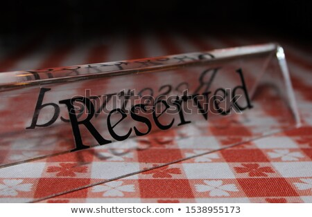 exclusive place setting on dark tablecloth Stock photo © gewoldi