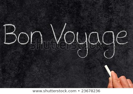 Bon Voyage, have a good trip, written on a blackboard. Stock photo © latent