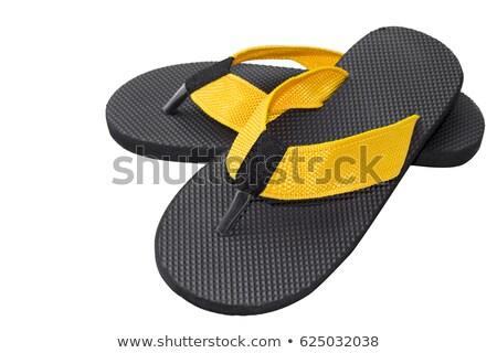 a pair of men's beach slippers Stock photo © RuslanOmega