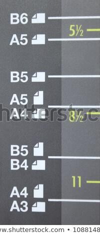 Kâğıt boyut lazer işaretleri dijital yazıcı Stok fotoğraf © vladacanon