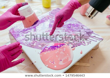 Painter with a hair dryer Stock photo © photography33