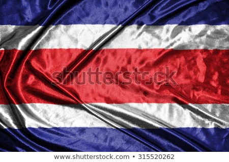 Flag of Costa Rica on brick wall stock photo © creisinger