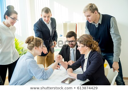 Business Woman Arm Wrestle Stock photo © cboswell