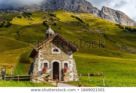 часовня гор природы Церкви синий листьев Сток-фото © zittto
