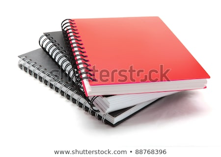 книгах спиральных шаблон изолированный белый Сток-фото © HectorSnchz