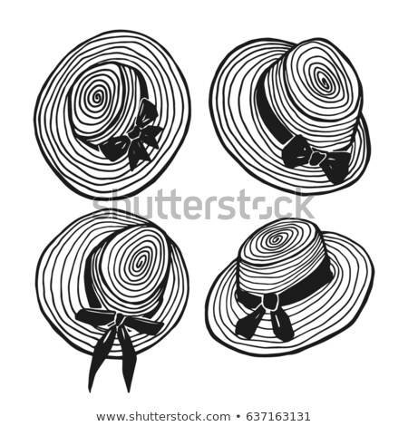 Stock photo: Hand drawn female summer hat