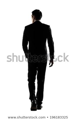 Tam uzunlukta geri siluet adam çıplak model Stok fotoğraf © arlatis