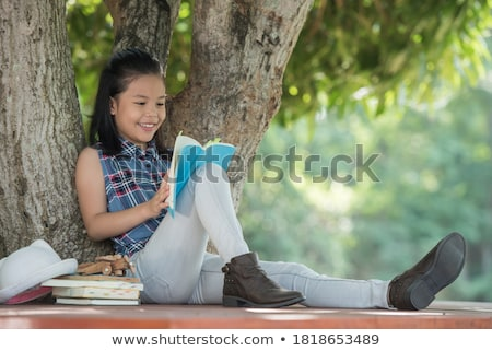 Fantastic picture of playing child Stock photo © konradbak