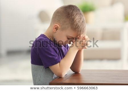 Children praying at the table Stock photo © wavebreak_media