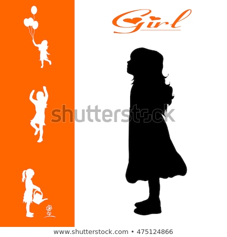 Isolated girs silhouette collegtion stock photo © Myvector