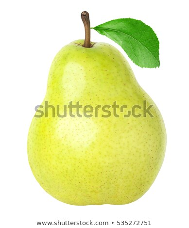 Sections of pear  isolated on white background stock photo © vaeenma