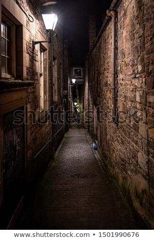 路地 エディンバラ 伝統的な 提灯 旧市街 スコットランド ストックフォト © Hofmeester