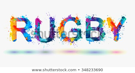 football player pictogram with colorful words Stock photo © seiksoon