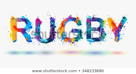 futballista · piktogram · színes · szavak · férfi · sport - stock fotó © seiksoon