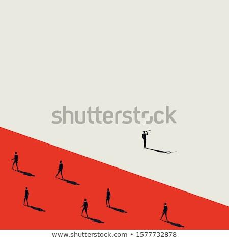 Thinking different concept illustration Stock photo © make