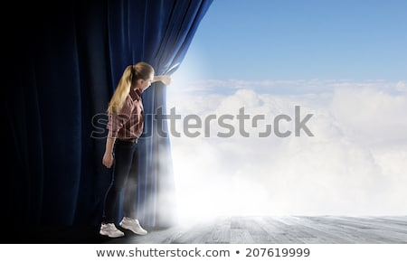 Behind The Blue Curtain Stock photo © Lightsource