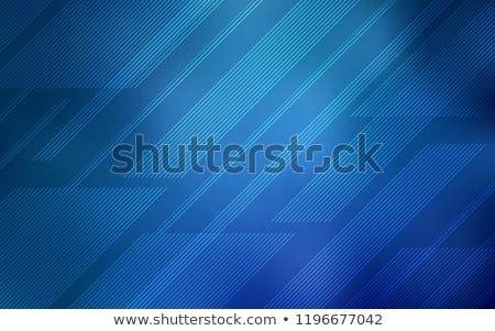 Stock fotó: Vektor · egyenes · vonalak · absztrakt · kék · csík