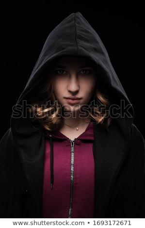 Stockfoto: Meisje · hacker · vrouw · computer · laptop
