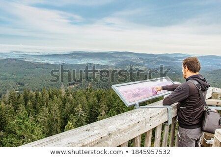 Boy on Tower in Mountains Stock photo © 2tun
