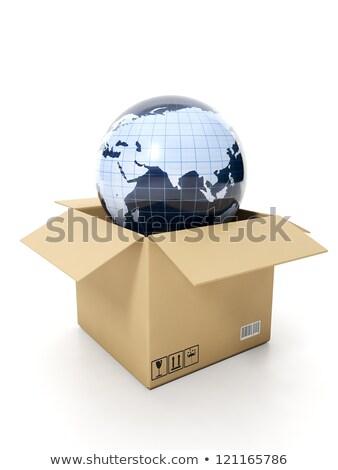Compras internet modelo terra fora Foto stock © kolobsek