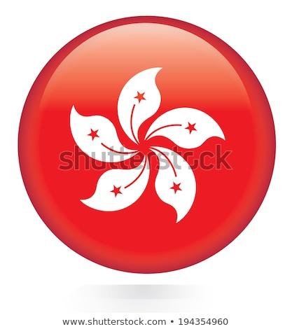 стекла · кнопки · флаг · Гонконг · красный · лук - Сток-фото © maxmitzu