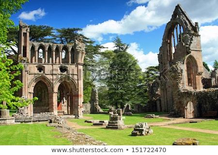 Abdij ruines steen architectuur Europa godsdienst Stockfoto © Hofmeester