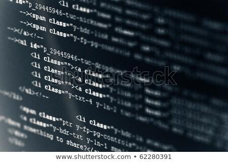 コード html 言語 黒 液晶 画面 ストックフォト © simpson33