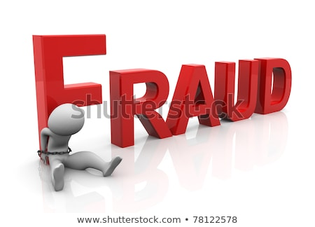 3d man tied with text 'fraud' after committing crime.  Stock photo © dacasdo