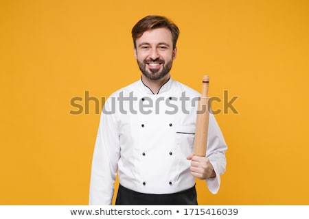 Male chef holding rolling pin Stock photo © wavebreak_media