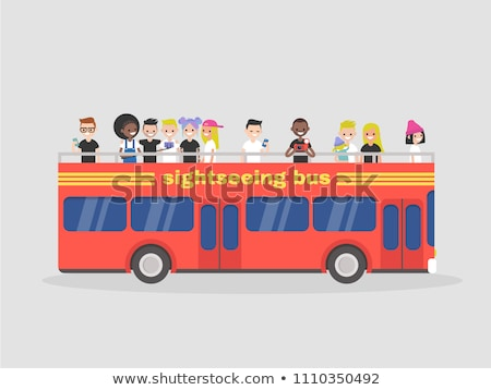 An open topped tour London bus. Vector illustration Stock photo © leonido