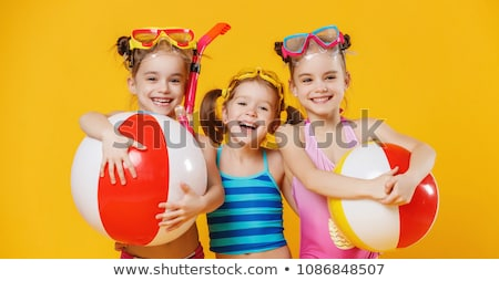 Girl with inflatable beach ball Stock photo © photography33