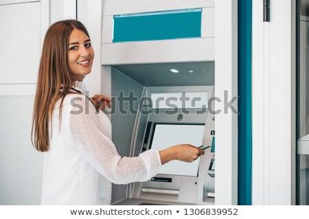 ATM · nakit · makine · yalıtılmış · beyaz · yüksek - stok fotoğraf © witthaya