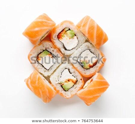 detailed view of maki sushi stock photo © frank11