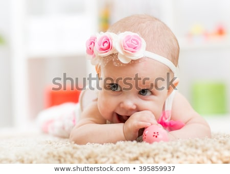 Stock fotó: Baby Girl With Funny Expression In Face