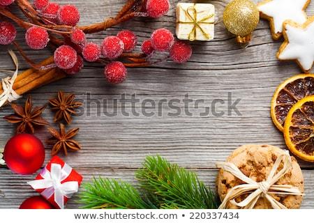 Zimt Spielerei Weihnachten Dekoration Gold Makro Stock foto © juniart