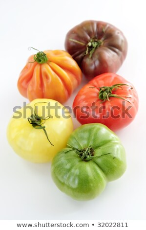 Multi colored heirloom tomatoes Stock photo © stockyimages