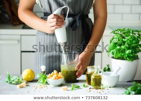 elétrico · comida · batedeira · mão · branco · ver - foto stock © magraphics