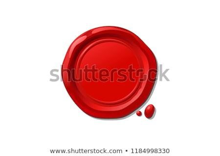 Naturalismo carimbo vermelho cera selar isolado Foto stock © tashatuvango