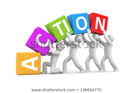 3d concept of action plan Stock photo © nasirkhan