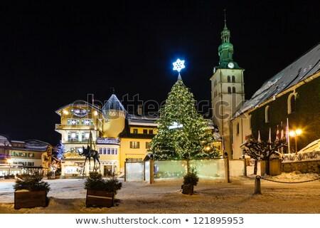 деревне · Рождества · французский · Альпы · Франция · дома - Сток-фото © anshar