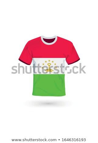 флаг Таджикистан футбола команда стране Сток-фото © MikhailMishchenko