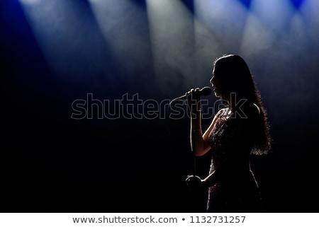 модный · певицы · девушки · пения · ретро · женщину - Сток-фото © andreypopov