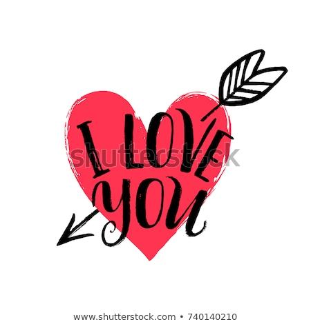 Amor cartão feliz dia dos namorados vermelho rosa Foto stock © grechka333