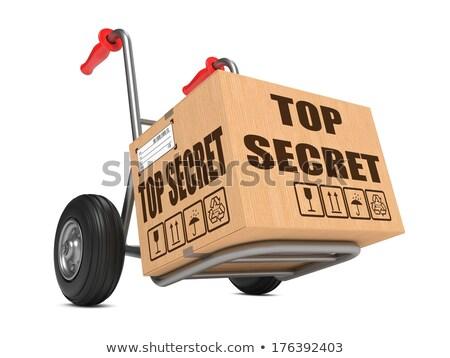 Top geheime hand vrachtwagen leuze Stockfoto © tashatuvango