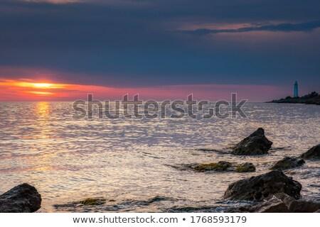Elképesztő naplemente tengerpart hdr nap tájkép Stock fotó © moses